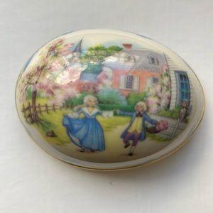 Vintage Lenox Porcelain Ltd Ed. Trinket Box NWOT